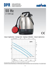 Submersible Pumps - 50 Hz n - 2900 rpm