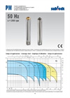 Submersible Pumps - 50 Hz n - 2900 rpm Datasheet