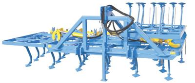 Giovanni - Model V4TI - Triple-Frame Vibrotiller with 4 Shank-Holder Rows and Lateral Hydraulic Folding for Open Fields