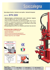 Model STV.220 - Hydraulic Wood Splitter Brochure