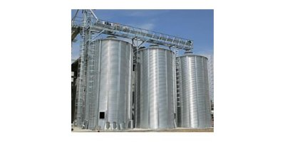 Silos in Galvanized Steel for Cereals