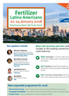 Fertilizer Latino Americano (FLA) 2018 Conference - Brochure