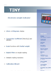 Tiny - Electronic Weight Indicator Datasheet