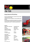 FSI T25 Stump Cutter for PTO 25-55 HP - Brochure