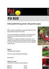 FSI B20 Self-propelled Stump Cutter with Gasoline Engine - Brochure