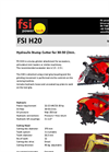 FSI H20 Hydraulic Stump Cutter for 30-50 l/min - Brochure