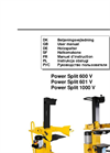 Power Split - Model 1000V - Log Splitters Brochure