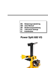 Power Split - Model 600VG - Gasoline Log Splitters Brochure