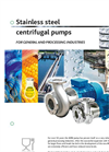 Model IFF & MFF series - Industrial Stainless Steel Centrifugal Pump with Recessed Impeller Brochure
