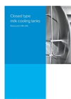 Closed Type Milk Cooling Tanks - Brochure