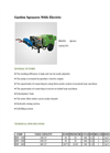 Agrose - Garden Sprayers With Electric - Brochure