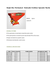 Agrose - Single Disc Mechanical - Hydraulic Fertilizer Spreader Machines - Brochure