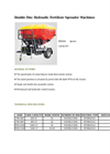 Agrose - Double Disc Hydraulic Fertilizer Spreader Machines - Brochure