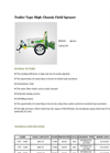 Agrose - Trailer Type High Chassis Field Sprayer - Brochure