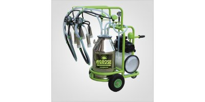 Agrose - Single Bucket Double Milking Kuru System Milking Machine