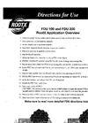 Model FDU 300 - Roots Applicator Brochure