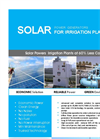 Model SG-P - Solar Generators for Irrigation Datasheet