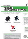 Netafim - Pressure Compensating Drippers - Brochure