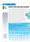 Model AQUA SERIES - Twin Lobe Rotary Air Blowers Brochure