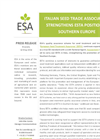 ESA_16.0311 Italian Seed Trade Association strengthens ESTA position in Southern Europe  Brochure