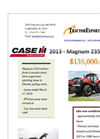 CASE IH - Model Magnum 235 - Tractor - Tier 2 Datasheet