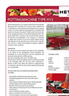 Model H15 - Potting Machine Brochure