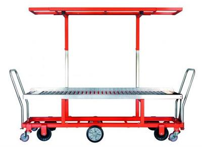 Carts for Harvesting Tomatoes in Boxes