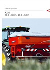 AXIS - Model 20.2 K D C - Twin Disc Fertiliser Spreader Brochure