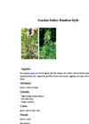 Garden Stakes Bamboo style