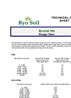 ByoSoil ByoHumic Dosage Chart
