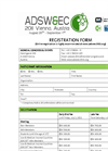 ADSW&EC 2011 Registration Form