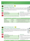 NITROGEN - Model MYR - Organic Liquid Nitrogen Fertilizer Brochure