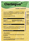 CLARIAGUA - Algaecide - Flocculant for Irrigation Ponds Brochure