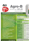 Agro-B - Foliar Nutrient (4-0-0 With 10% B) - Datasheet