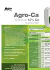Agro-Ca - Foliar Nutrient (0-0-0 + 12% Ca) - Datasheet