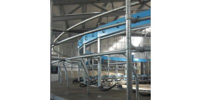 Inside Rotary Milking Parlour