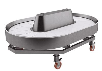 Sirius - Oval Harvesting Table for Broilers Loading