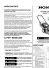 Model HRX217VKA - Lawn Mowers Brochure