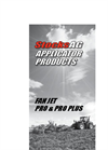 Fan Jet - Model Pro and Pro Plus - Applicators Brochure
