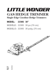 Gas Hedge Trimmers Brochure