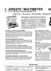 AirData - Model ADM-850L - Electronic Micromanometer  Brochure