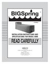 BigSpring - Model 6000/6001 - Waterer Brochure