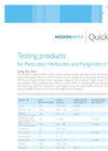 QuickChek Testing products for Pesticides/ Herbicides and Fungicides in Water Brochure