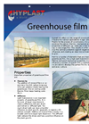 Hyplast - Model NV - Greenhouse Polyethylene Film Brochure