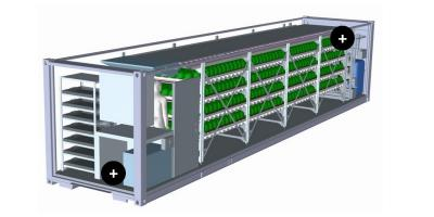 FarmPro - Model 40 Ft - Fully Automated and Climate Controlled  Freight Container
