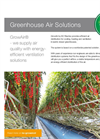 GrowAir - Air Distribution Systems for Greenhouse  Brochure