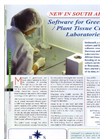 Software for Greenhouse /Plant Tissue Culture Laboratories Brochure