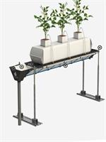 Hydroponic - Model HS - Elevated Drainage Collection Gutters System