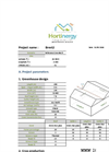 Hortinergy - Energy Efficient Greenhouses Online Software Suite Typical Report Brochure