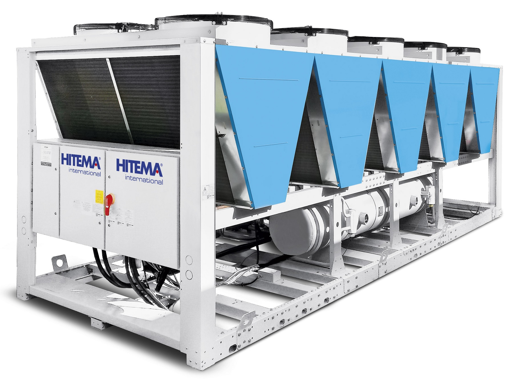 Hitema - Model TFV Series - Air-Cooled Liquid Chillers Cooling Capacity Range 250kW - 1215kW for Wineries, Agriculture & Farming & More
